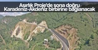 Karadeniz-Akdeniz Yolu Projesi'nde çalışmalar sürüyor