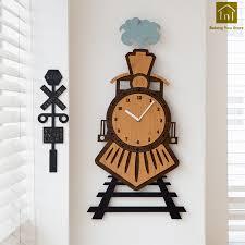 Ditigal Creative <b>Creative Wooden Wall</b> Clock Craft Wall Watch ...