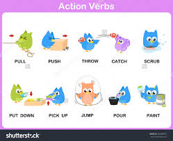 verb clipart clipart kid action verb cartoon action verb clipart action verbs picture dictionary activity kids stock vector action verb