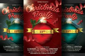 christmas party flyer template v flyer templates on creative market