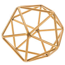 Gold <b>Geometric Metal Shape</b> | Hobby Lobby | 1653369
