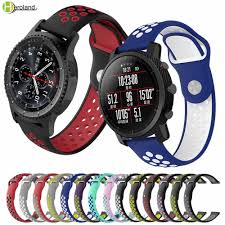 20 <b>22MM silicone watch strap</b> band For samsung gear s3 sport s2 ...