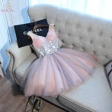<b>Short</b> Prom Dresses <b>Walk Beside You</b> Ball Gown Pink Gray ...