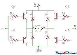 dc motor driver circuits transistor h bridge