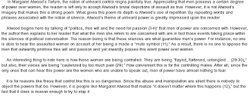 powerful silence  an analysis of margaret atwood    s  quot torture quot  at    essay on powerful silence  an analysis of margaret atwood    s  quot