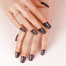 ArtPlus <b>Faux</b> Ongles 24pcs <b>Halloween Gothic</b> Black Silver with ...