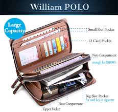 Business Mens <b>Brand</b> Clutch Bags <b>WILLIAMPOLO</b> Real Leather ...