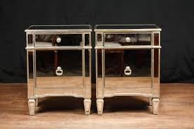 mirrored night stands borghese mirrored furniture