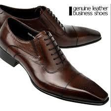 2017 New <b>Genuine</b> Brown Leather Business <b>Shoes Men</b> Classic ...