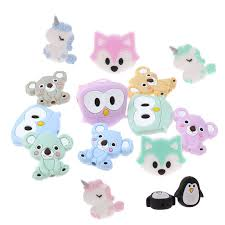 Bpa Free 10pc Cute <b>Dinosaur</b> Silicone <b>Baby Teether</b> Pendant ...