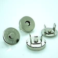 20 sets silver tone round magnetic purse snap clasps closure handbag 14mm fermoir