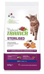 <b>Корм</b> для кошек <b>TRAINER Natural</b> Adult cat Sterilised Salmon dry ...
