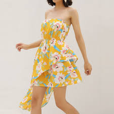 Womens Summer Dress Floral Printting Korean Version <b>Sweet Off</b> ...