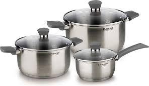 "<b>Набор посуды</b> Rondell ""Strike"", <b>6 предметов</b>. RDS-820, Сталь ..."