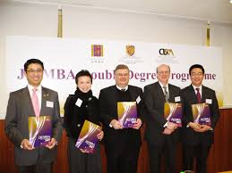 cuhk launches the st jd mba double degree programme in asia from left mr vincent leung ms erica chan professor stephen hall co ordinator