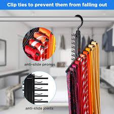 IPOW <b>Tie</b> Rack Hanger Organizer <b>Cross</b> X Belt Hanger with <b>Non</b>-<b>slip</b> ...