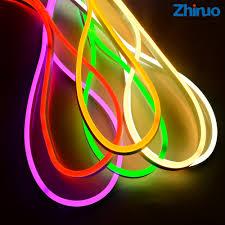 ZHINUO Waterproof AC220V 2835 Neon <b>Led</b> Strip Light <b>120LEDs</b>/<b>m</b> ...