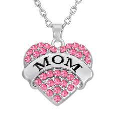 <b>My Shape Fashion</b> Pink Big Litter Sister Mom Crystal Heart ...