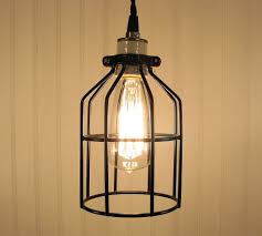 industrial pendants lighting industrial cage pendant light with edison bulb by lampgoods cage pendant lighting