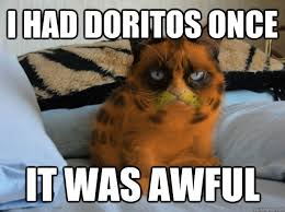 I had doritos once IT WAS AWFUL - Grumpy Cat - quickmeme via Relatably.com