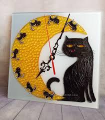 <b>Настенные часы</b> Лунная <b>кошка</b>, 400 грн. Интерьер купить ...