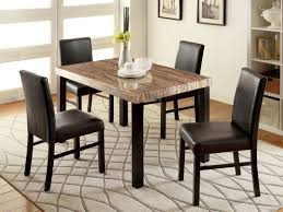 Five Piece Dining Room Sets Pc Lisbon Ii Dark Walnut Finish Wood Contemporary Style Counter