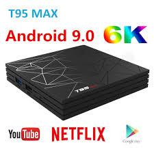 <b>Android 9.0 TV Box</b> T95 MAX 4GB 32GB 64GB Smart Set top box H6 ...