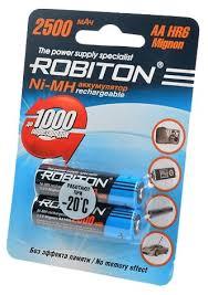 <b>Аккумулятор Ni</b>-<b>Mh</b> 2500 <b>мА</b>·<b>ч</b> ROBITON AA HR6 Mignon 2500 vs ...