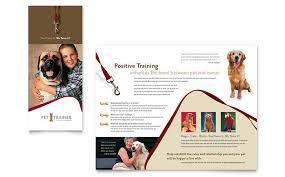 Pet Training & Dog Walking Flyer Template Design Brochure