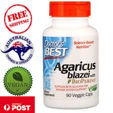 Doctor's Best, <b>Agaricus Blazei With Bioperine</b>, 90 Vegan Capsules ...
