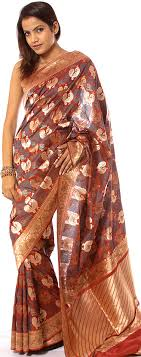 Traditional Jamawar saree from North India