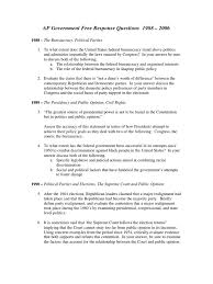 ap government essay questions study ap questions i united states congress