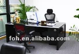 blue glass top modern office furniture office table fohj 8058 blue glass top modern office