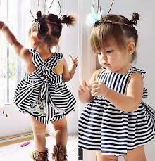 <b>Backless</b> Black & White <b>Summer</b> Baby <b>Girl</b> Princess <b>Dress</b> + Pants ...