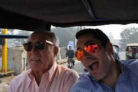 rickshaw ride my dad in delhi sebastian palazio