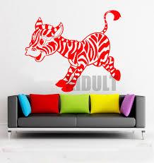 cartoon wall sticker zebra african wildlife zebra wall stickers vinyl stickers childrens bedroom home decoration wall african decor furniture