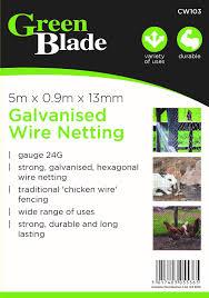 garden mile® Galvanised PVC Coated <b>Chicken Wire Mesh</b> Rabbit ...