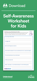 best images about back to school teaching self awareness worksheet for kids