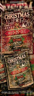 christmas party vintage style flyer poster vol by thecreativecat christmas party vintage style flyer poster vol events flyers