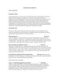 clinical data analyst resume and job quality descriptions qa gallery of data warehouse analyst job description