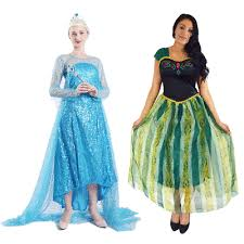 <b>Adult</b> Anna <b>Elsa</b> Queen <b>Princess Fancy</b> Dress Costume Party Outfit ...