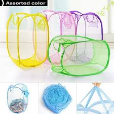 $3.84 $4.60 - Mesh Fabric Foldable Pop Up Dirty Clothes Washing ...