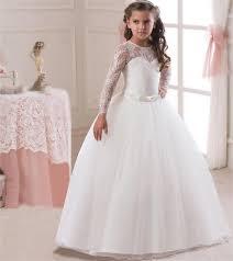 <b>Romantic</b> Lace <b>Puffy Lace</b> Flower Girl Dress 2018 for Weddings ...