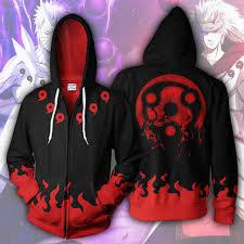 2019 <b>Hot</b> Sale <b>Naruto Hoodies</b> Madara Mangekyou Zip Up Hoodie ...