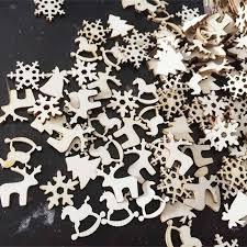 <b>50pcs</b>/lot 6 Designs Natural Wood Christmas Ornaments Reindeer ...