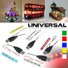<b>Universal DIY LED</b> Light Lighting Kit For Lego Toys Bricks Bar-type ...
