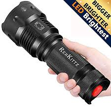 REHKITTZ Torch <b>LED</b> Torch <b>Tactical</b> Military Torches <b>Super Bright</b> ...