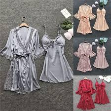 <b>2019</b> Nightdress Belt Sleepwear Silk Nightgown wedding Bride ...