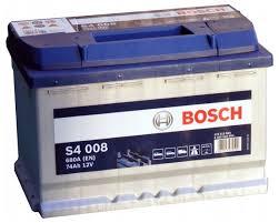 Автомобильный аккумулятор <b>Bosch</b> S4 008 (0 092 <b>S40</b> 080 ...