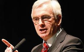John McDonnell drew loud applause from an audience of union members as he described himself as a victim of the former Conservative ... - John-McDonnell_1652362c